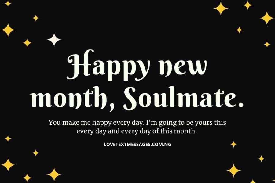 Happy New Month Love Text Messages