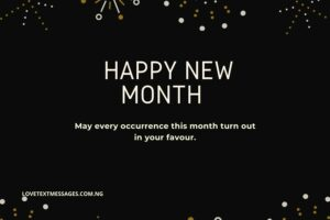 Happy New Month Love Wishes