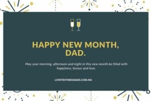 Happy New Month Prayers for Dad