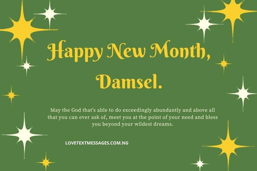 Happy New Month Prayers for Daughter