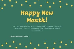 Happy New Month Prayers for Husband