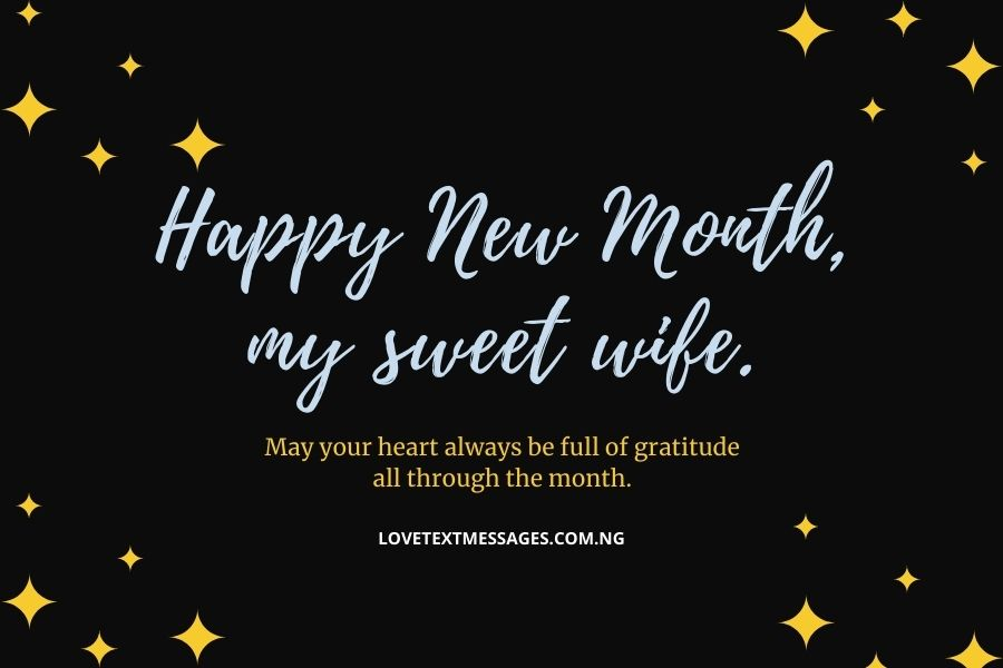 Happy New Month Prayers for Wife