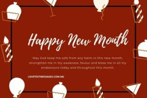 Happy New Month Prayers for Yourself