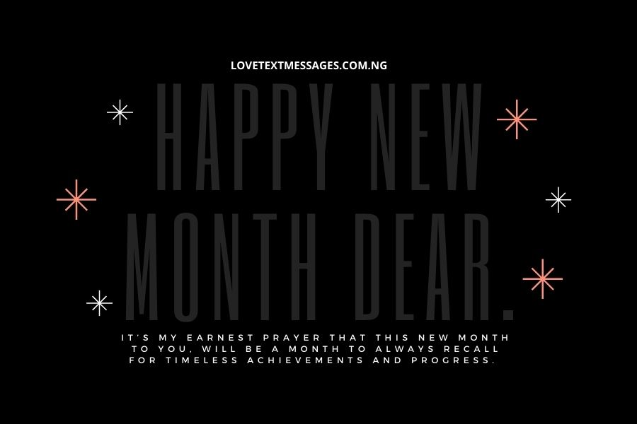 Happy New Month Text Messages for Brother