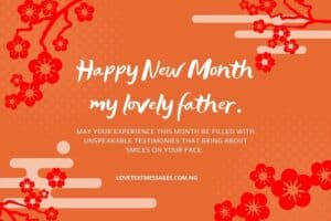 Happy New Month Text Messages for Fathers