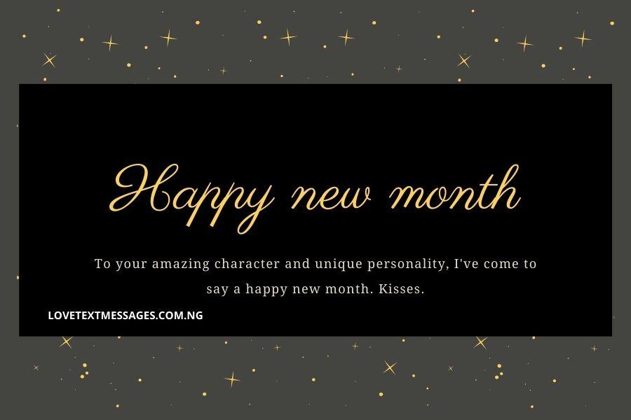 Happy New Month Text Messages for Her