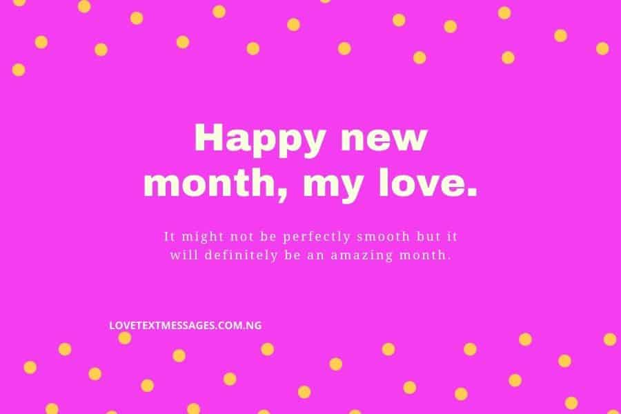 Happy New Month Text Messages for Lovers