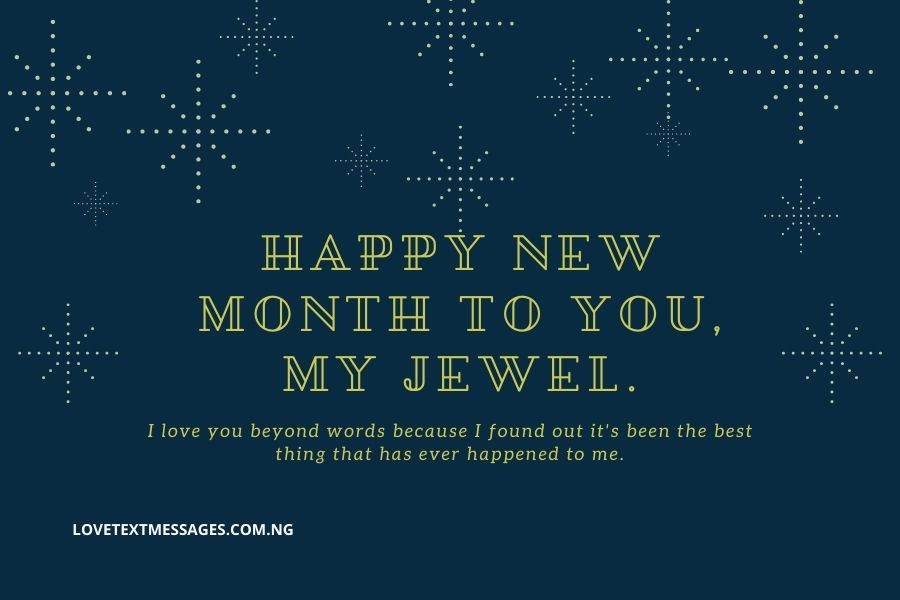 Heart-touching Happy New Month Message for Her