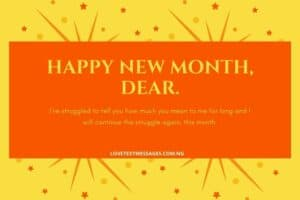 Inspirational Happy New Month Message for Her