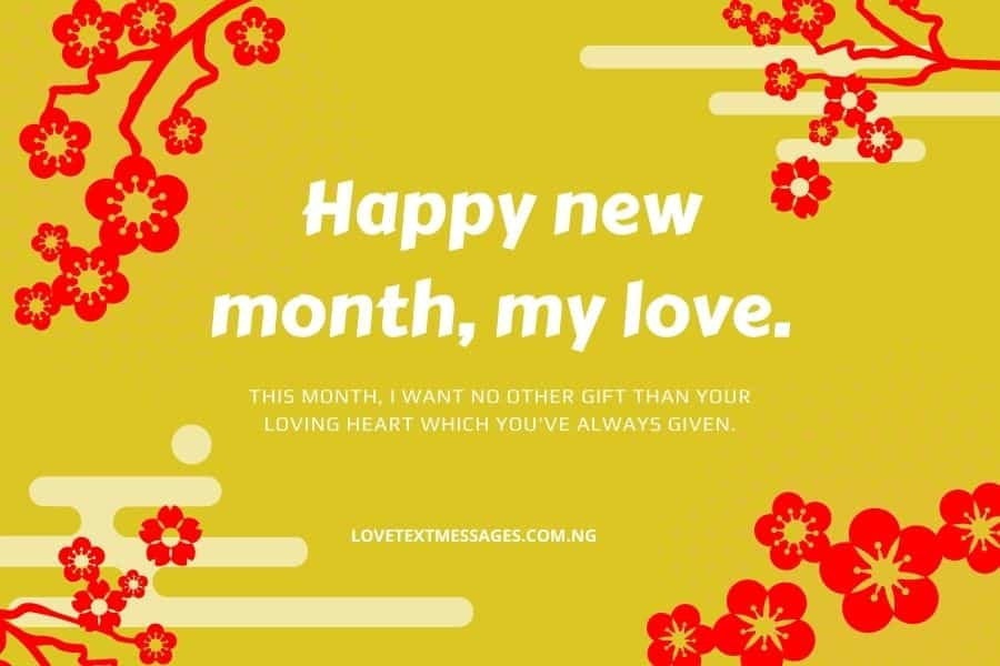 Lovely New Month Messages