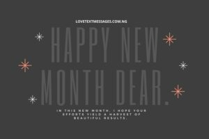 New Month Inspirational Message for Brother