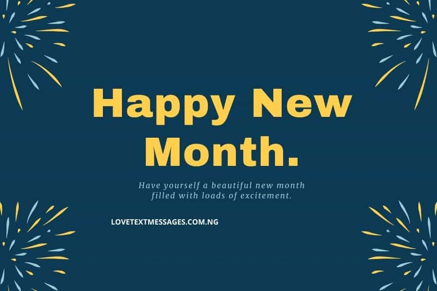 New Month Inspirational Message for Friend