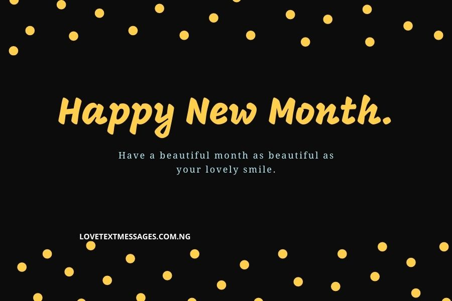 New Month Inspirational Message for Girlfriend