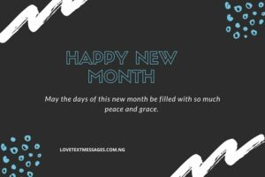 New Month Inspirational Message for Sister