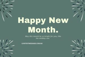 New Month Love Messages