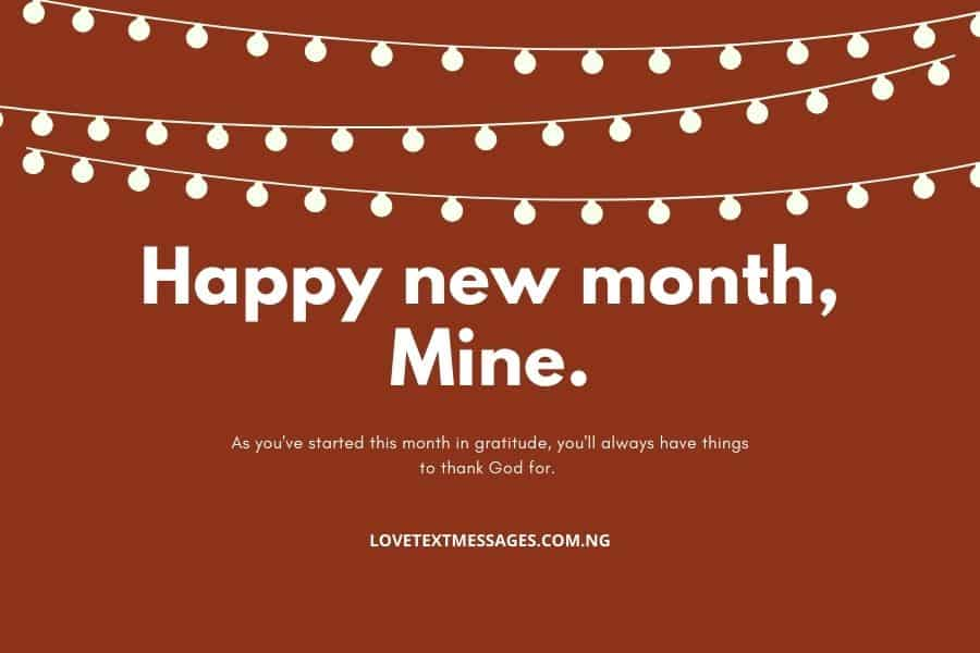 New Month Love Text Messages