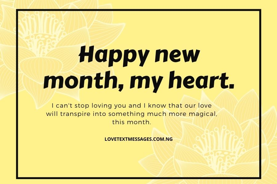 New Month Messages of Love