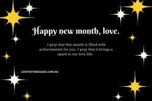 New Month Messages to Lovers