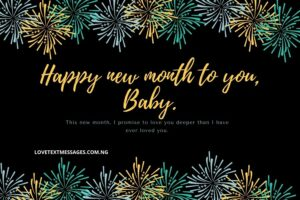 Romantic Happy New Month SMS for Her
